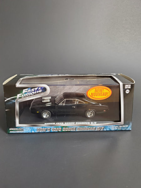 Greenlight - Dom's 1970 Dodge Charger R/T - Fast & Furious Series *1:43 Scale*