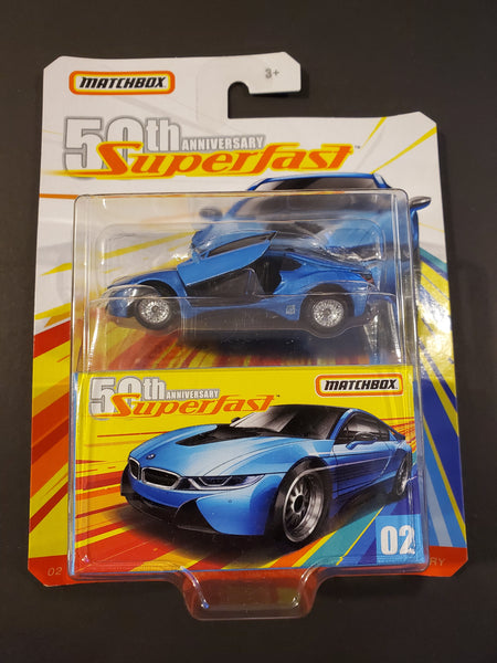 Matchbox - '16 BMW i8 - 2019 50th Anniversary Superfast Series