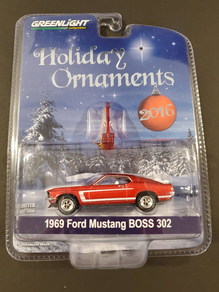 Greenlight - 1969 Ford Mustang BOSS 302 - 2016 Holiday Ornaments Series