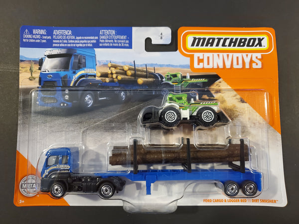 Matchbox - Ford Cargo & Logger Bed / Dirt Smasher - 2020 Convoys Series