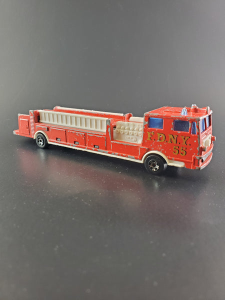 Majorette - Fire Engine Big Ladder Truck - Vintage