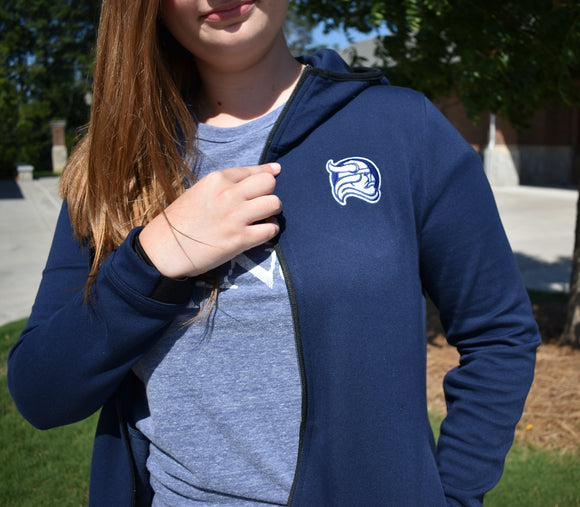 Women's Nike Full Zip Jacket - Navy