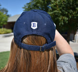 Navy Nike Campus Hat with Viking Head