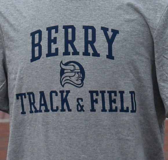 Nike Berry Track and Field Tee - Gray