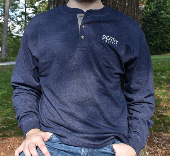 Henley Long Sleeve - Navy