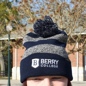 Berry College Beanie - Navy and Gray