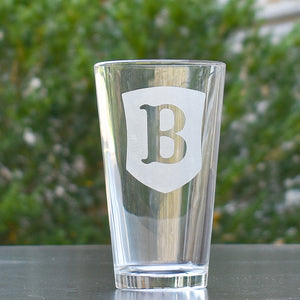 Berry Shield Embossed Pint Glass
