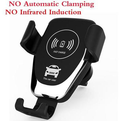10W Automatic Clamping Car Wireless Charger VSthingymajig R0 silvery