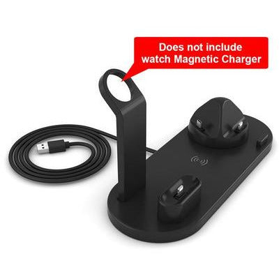 15W Fast Wireless Charger Stand For iPhone & Android Devices VSthingymajig TypeB Black