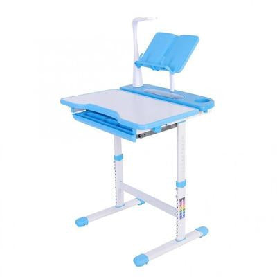 Blue Kids Study Table & Comfortable Chair Set with Lamp VSthingymajig