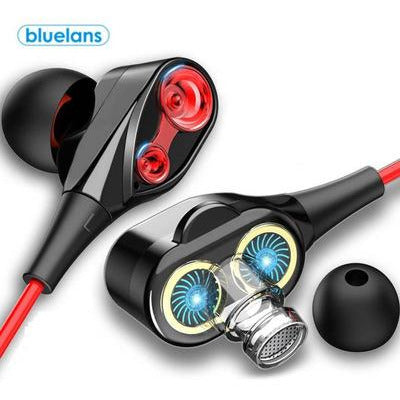 Coil Iron 3.5mm Universal In-Ear Wired Earphone HiFi Stereo Music Headset With Mic VSthingymajig