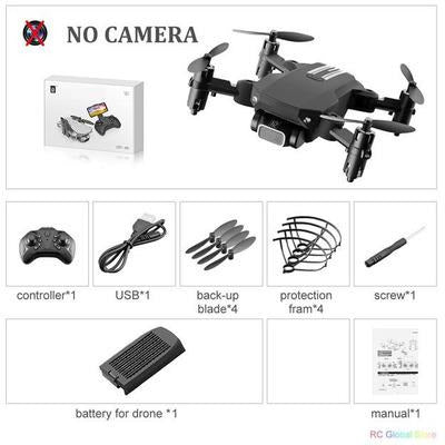 Foldable RC Drone UAV Quadcopter WiFi FPV with 4K HD Camera Aerial Photography VSthingymajig NO camera Black