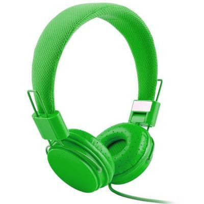 High Quality stereo bass Kids headphones With Microphone VSthingymajig green
