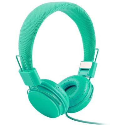 High Quality stereo bass Kids headphones With Microphone VSthingymajig mint green