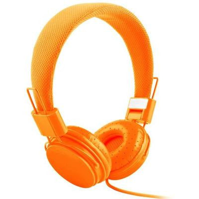 High Quality stereo bass Kids headphones With Microphone VSthingymajig orange