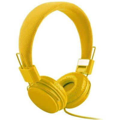 High Quality stereo bass Kids headphones With Microphone VSthingymajig yellow