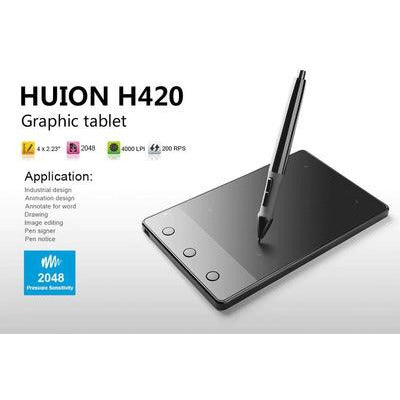 "Huion H420 4x 2.23"" Professional Graphics Drawing Tablet OSU Signature Pad Digital Kit VSthingymajig"