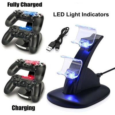 LED Dual Charging Dock Station for PS4 VSthingymajig