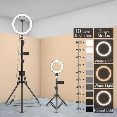 LED Ring Light Photography Lighting Selfie Lamp USB Dimmable With Tripod VSthingymajig