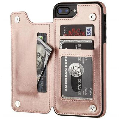 Luxury Slim Fit Premium Leather Cover For iPhone's VSthingymajig for iPhone 6s Rose Gold