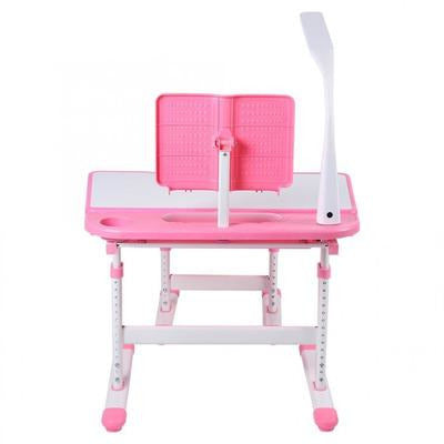 Pink Kids Study Table & Comfortable Chair Set with Lamp VSthingymajig