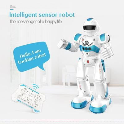 Remote Control Robot Multi-function USB Charging Children's Toy RC Robot Will Sing Dance Action Figure Gesture Sensor Robot VSthingymajig