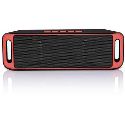 SC208 Bluetooth Wireless Audio Speaker with Stereo Amplifier Subwoofer VSthingymajig SPAIN Red