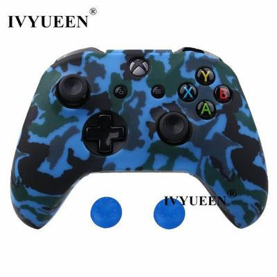 Silicone Protective Skin Case for XBox One, X & S Controller VSthingymajig Blue Camo