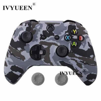 Silicone Protective Skin Case for XBox One, X & S Controller VSthingymajig Gray Camo