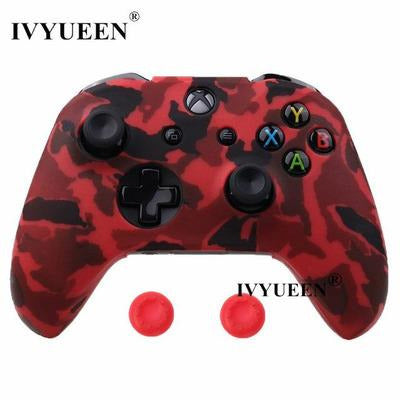 Silicone Protective Skin Case for XBox One, X & S Controller VSthingymajig Red Camo