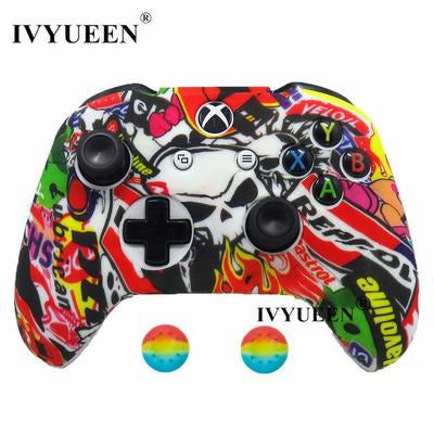 Silicone Protective Skin Case for XBox One, X & S Controller VSthingymajig Sticker Bomb