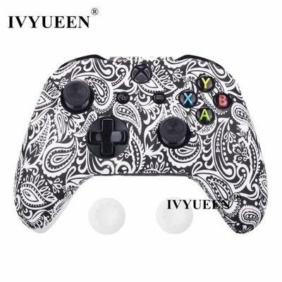 Silicone Protective Skin Case for XBox One, X & S Controller VSthingymajig White Leaf