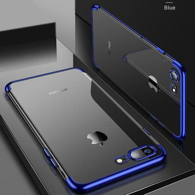 Smart Transparent Case For iPhone VSthingymajig For iPhone X Blue