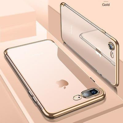 Smart Transparent Case For iPhone VSthingymajig For iPhone X Gold