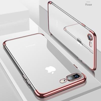 Smart Transparent Case For iPhone VSthingymajig For iPhone XS Max Rose