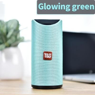 TG Bluetooth Speaker Portable VSthingymajig Glowing green