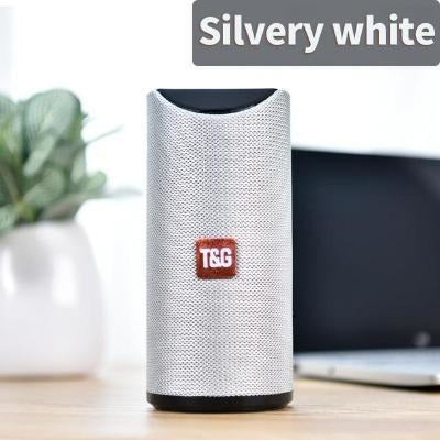 TG Bluetooth Speaker Portable VSthingymajig Silver white