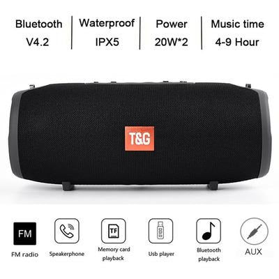 TG118 High Power 40W Bluetooth Waterproof Portable Speaker VSthingymajig