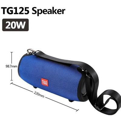 TG118 High Power 40W Bluetooth Waterproof Portable Speaker VSthingymajig TG 125 Blue