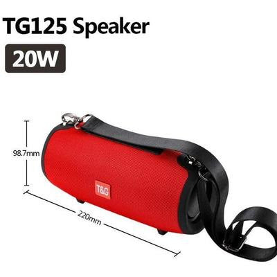 TG118 High Power 40W Bluetooth Waterproof Portable Speaker VSthingymajig TG 125 Red