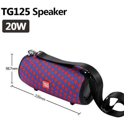 TG118 High Power 40W Bluetooth Waterproof Portable Speaker VSthingymajig TG 125 Red Blue