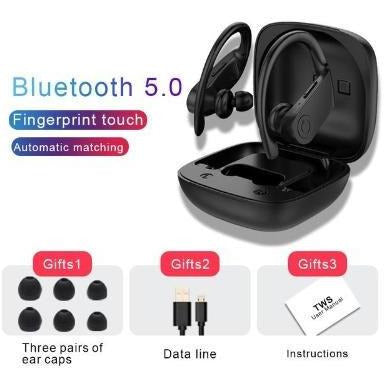 TWS Bluetooth 5.0 Wireless Sport Earbuds 3D Stereo Gaming Headset VSthingymajig