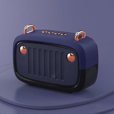 Vintage Portable Bluetooth V5.0 Speaker VSthingymajig Blue