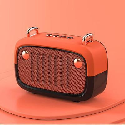 Vintage Portable Bluetooth V5.0 Speaker VSthingymajig Orange