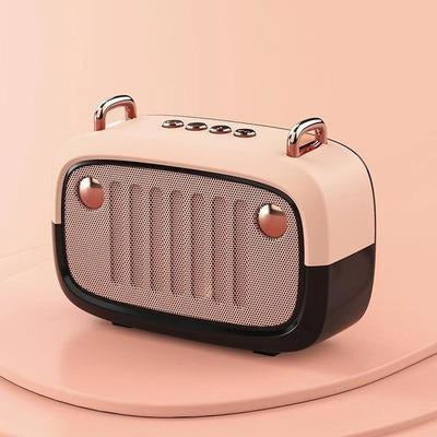Vintage Portable Bluetooth V5.0 Speaker VSthingymajig Pink