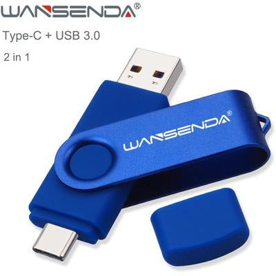 Wansenda USB Flash Drive 512GB 256GB USB 3.0 Pen Drive 128GB Cle USB Stick for Type C Android/PC 64GB Pendrive 32GB Memoria USB VSthingymajig