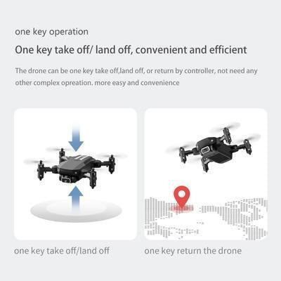 XKJ 2020 New Mini Foldable Quadcopter RC Drone with 4K HD Camera VSthingymajig