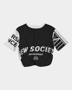 New Society Apparel Collection Women's Twist-Front Cropped Tee