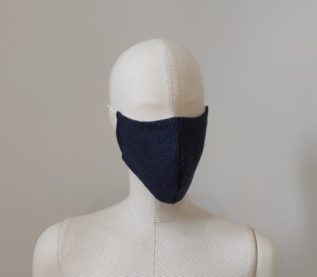 The Bowness - Navy Blue Reusable Face Mask