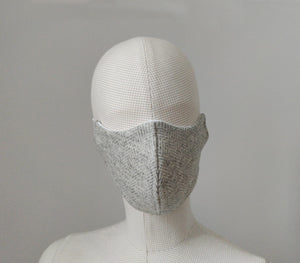 The Burford - Silver Grey Reusable Face Mask